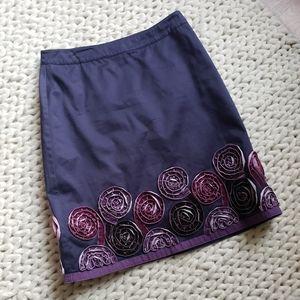 Flower Applique Skirt
